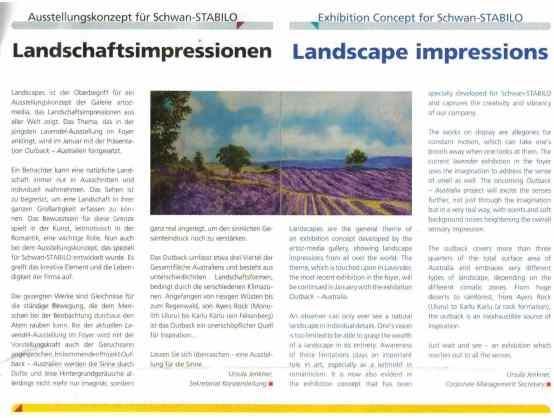 """LOMA-Projekt """"Landscapes"""" in Schwan-Stabilo"""