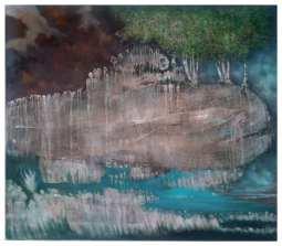 KASLOVSKI (Lothar Böhm) - Earth-Picture - MF 3 - 140 cm x 150 cm - Öllasur auf Leinwand - € 4900,- - sold