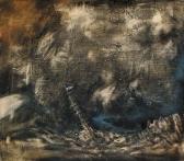 """""""Transitus"""" - Ölfarbe auf Sackleinen - 70 cm x 80 cm - sold"""