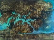 Earth Picture - MF 5 - 110 cm x 140 cm - Öllasur auf Leinwand, auf Spachtel/Tabaksud - 2017 - € 4700 - (Reserviert)
