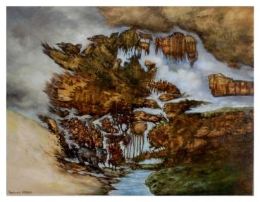 """Transit"" - 100 cm x 125 cm - Öl auf Holz"