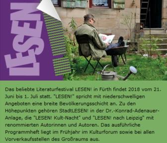 LESEN! 2018 Fürth - Leseveranstaltung aus meinen Romanen im KALTSCHER.
