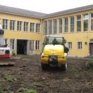 Umbau des Innenhofs Postkantine geht los